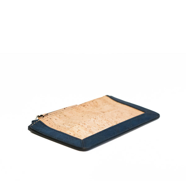 Kim Clutch Wallet - Brown + Blue - Rudder & Fern