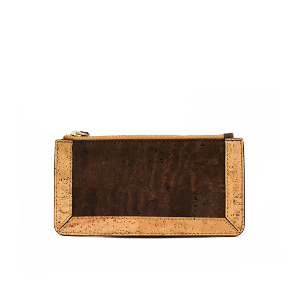 Kim Clutch Wallet - Natural + Brown - Rudder & Fern