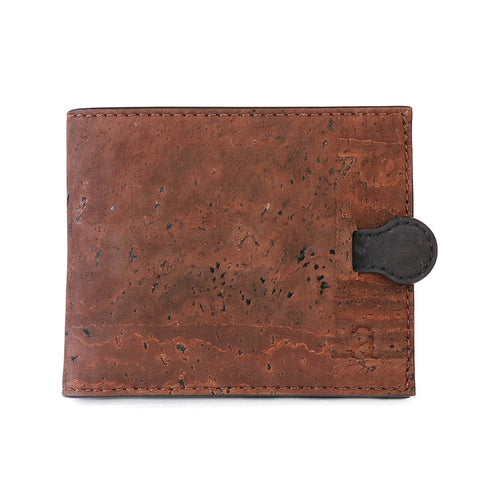 Brown arden cork wallet vegan black tab