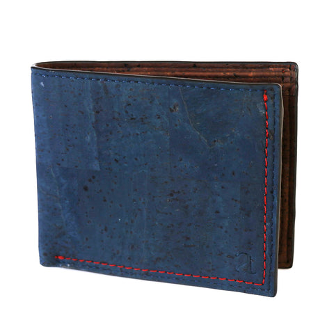 Gale Men's Slimfold Wallet - Blue - Rudder & Fern