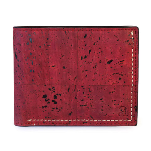 Gale Men's Slimfold Wallet - Maroon - Rudder & Fern