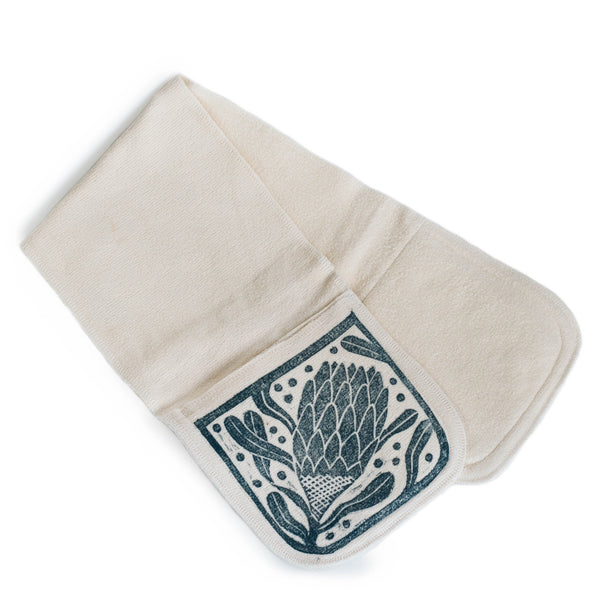 Protea Print Double Oven Mitts - Rudder & Fern