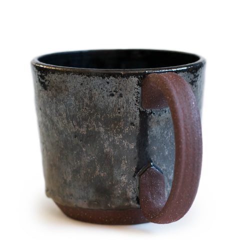 Ceramic mug Dark black handmade