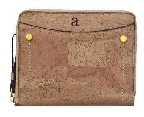 Brin Travel Wallet - Natural + Brown