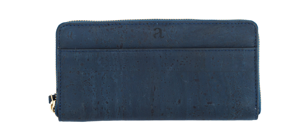 Willow Zip-Around Wristlet - Blue - Rudder & Fern