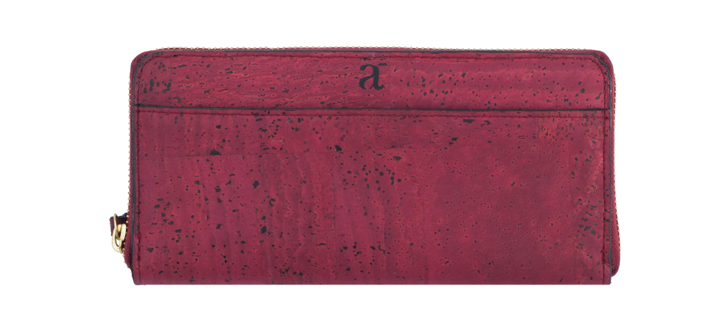 Willow Zip-Around Wristlet - Maroon - Rudder & Fern