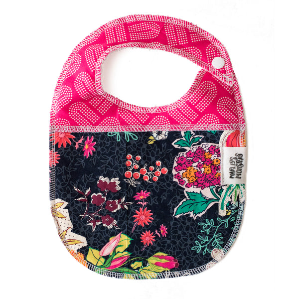 BABY BIB: News Clippings Floral