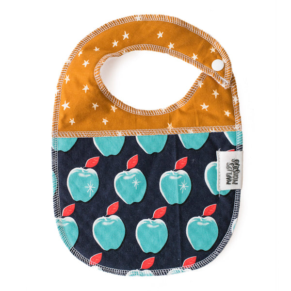 BABY BIB: Blue Apples