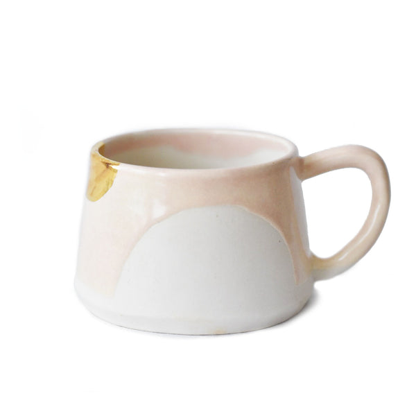 Pink Porcelain Mug with Gold Leafing