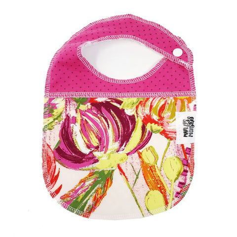 BABY BIB: Watercolor Flowers