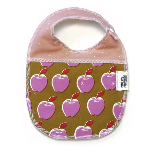 BABY BIB: Pink Apples