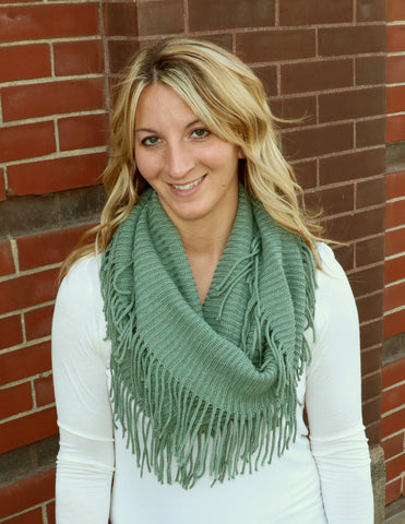 Sage Infinity Scarf