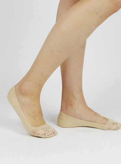 lace, no show sock, sock, liner, taupe, beige