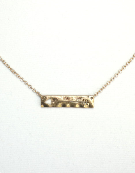 arrow, arrow necklace, gold necklace, gold arrow, necklace, simple necklace