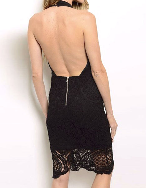 Crochet Openback Dress