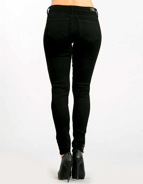 Black Distressed Skinny Jean back