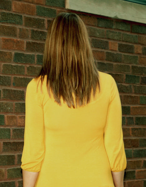 Long Ruffle Top in Mustard