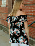 Floral Off the Shoulder Top back