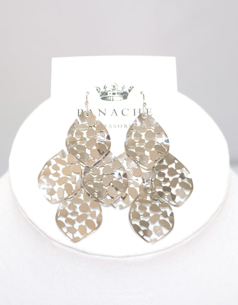 Glam Earrings in Silver