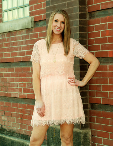 Cold Shoulder Dress with Lace