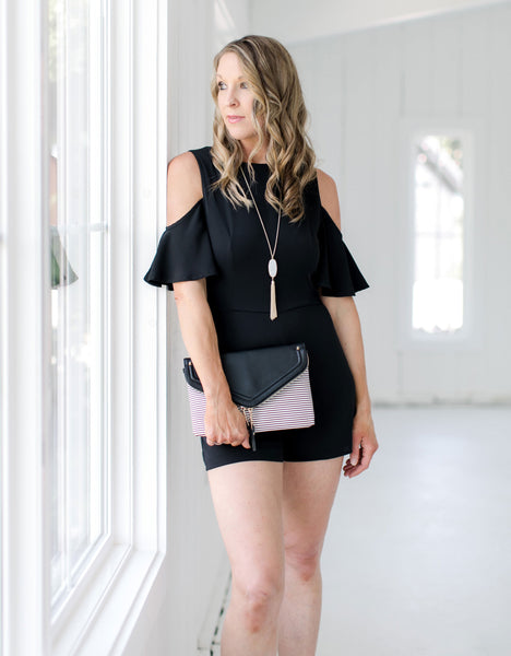 Cold Shoulder Romper black