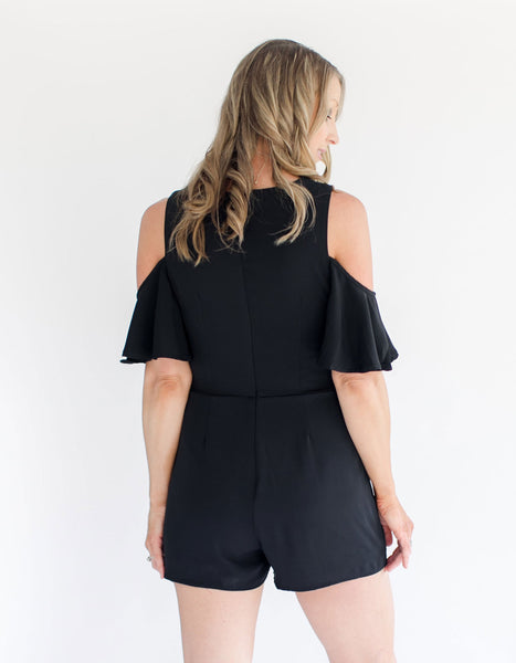 Cold Shoulder Romper back