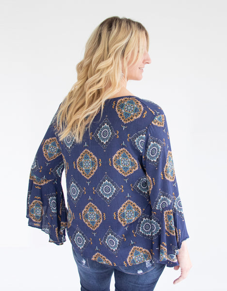 blue-medallion-blouse-bell-sleeve