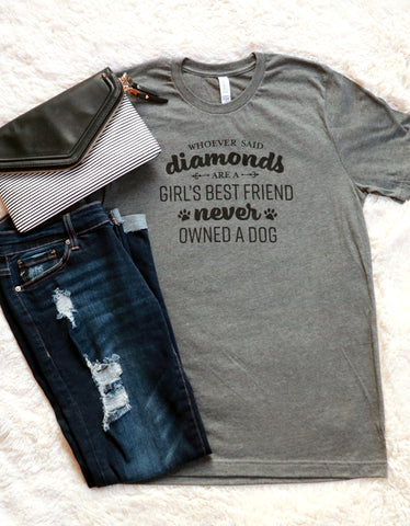 Girl's Best Friend Graphic Tee Heather Mauve