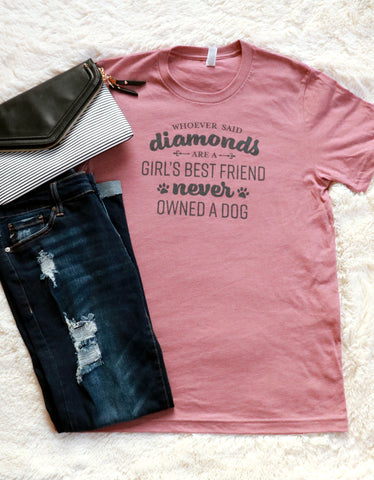 Girl's Best Friend Graphic Tee Deep Heather