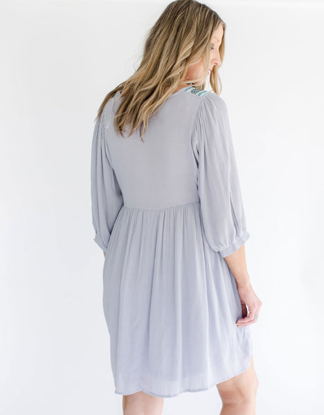 Gray Beach Dress