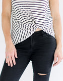 Knotted Striped Shirt
