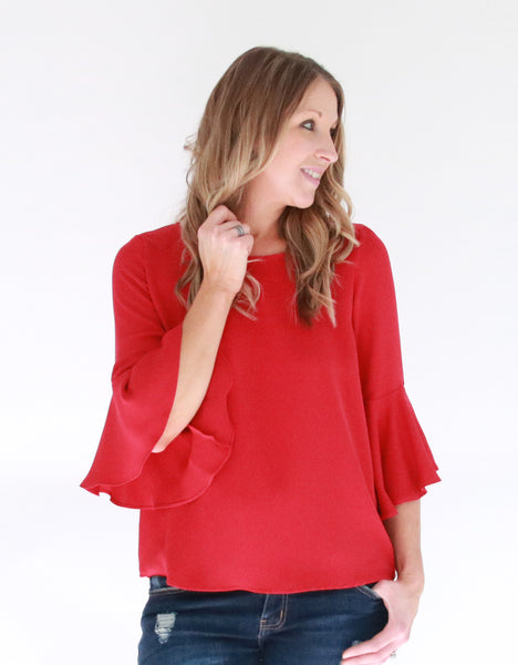 red-bell-sleeve-top
