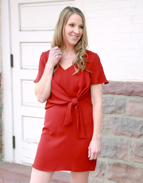 Red Knotted Dress