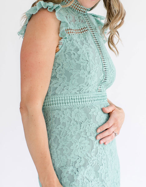 Lace Dress in Sage