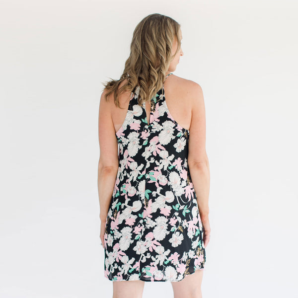 Floral Print Shift Dress back
