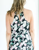 Floral Print Shift Dress back close-up