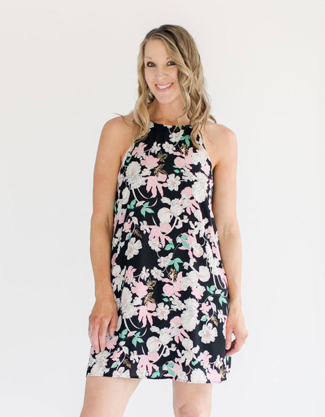 Floral Print Shift Dress front