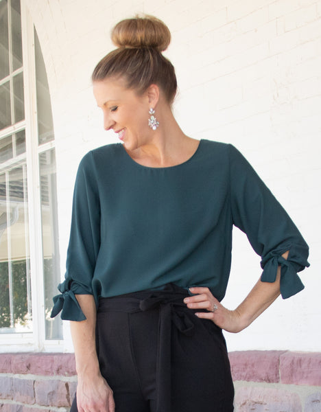 Teal Fashion Top