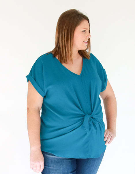 plus-size-turquoise-top