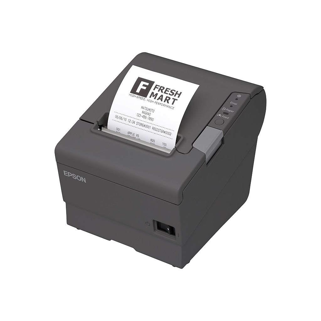 TM-T88V Direct Thermal POS Receipt Printer <small>(Direct Thermal, 80mm, Serial & USB Interfaces, Dark Gray, Power Supply Included, Auto Cutter & Tear Bar)</small>