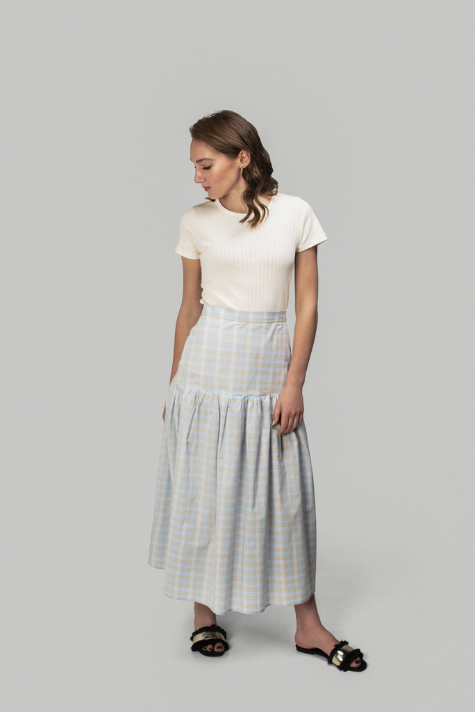 Plaid Drop-Waist Skirt