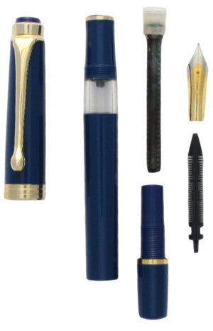FPR Indus Fountain Pen blue disassembled