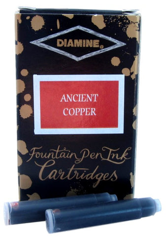 Diamine Ancient Copper Fountain Pen Ink Cartridges