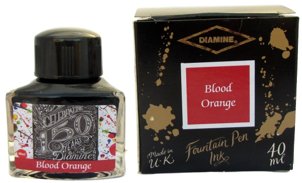 Diamine Blood Orange 150th Anniversary Fountain Pen Ink -40ml