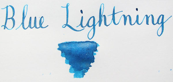 diamine blue lightning shimmer writing sample
