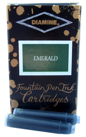 Diamine Emerald Fountain Pen Ink Cartridges