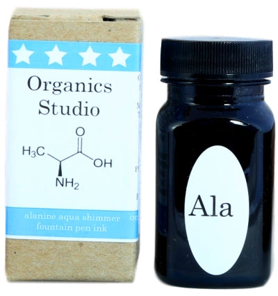 Organics Studio Alanine Aqua Shimmer Fountain Pen Ink -55ml