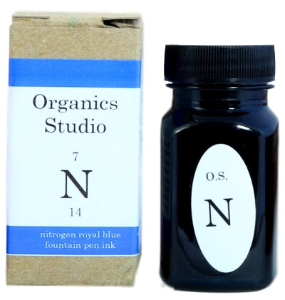 Organics Studio Nitrogen Royal Blue Fountain Pen Ink -55ml