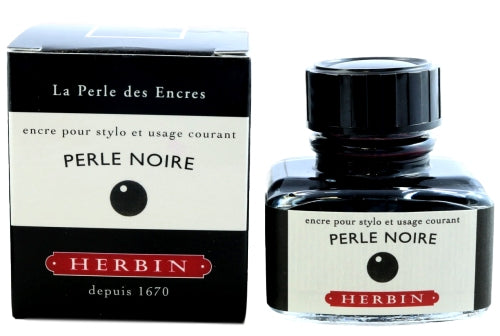 J. Herbin Perle Noire Fountain Pen Ink -30ml