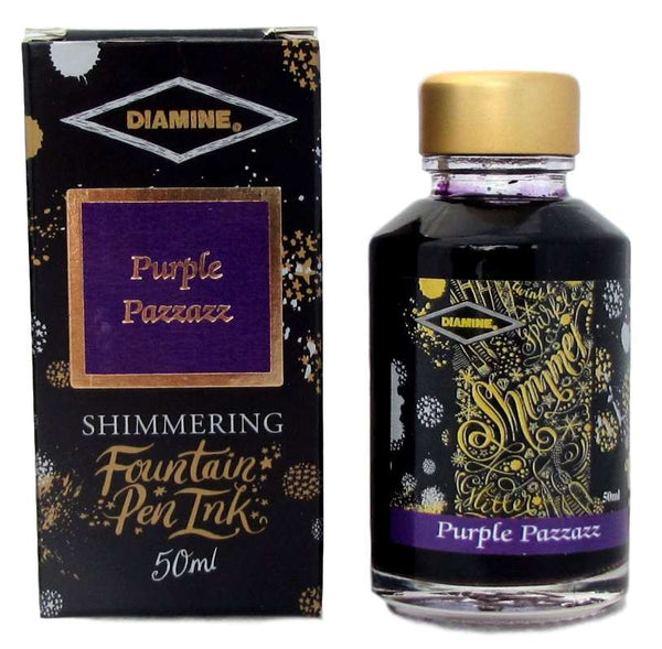 Diamine Purple Pazzazz Shimmer Fountain Pen Ink -50ml